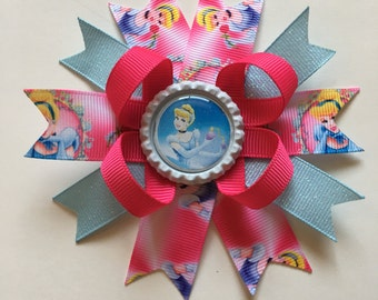 Cinderella Hairbow- Cinderella Hairbows- Cinderella Bow- Cinderella Bows- Princess Hairbow- Princess Hairbows- Princess Bows- Cinderella-