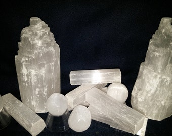 Selenite Crystal, Crystal Slab, Selenite Tower