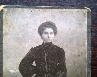 1900's RUSSIA old photo Woman in long dress