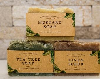 Valentine's Day gift, gift soap, scrub soap, gift for women, gift for girlfriend, vegan soap, natural soap, homemade soap, women gift set