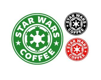 STARWARS- STARBUCKS Spoof IMPERIAL Coffee Quality Vinyl Decal, Coffee, Yeti, Car, Laptop, Gift, Star Wars