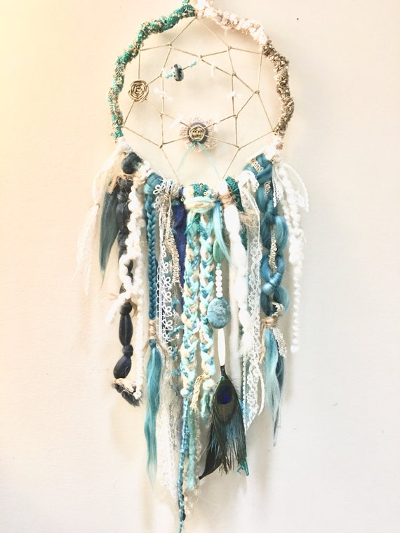 Peacock custom order dream catcher