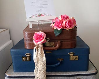 Vintage Trio of Suitcases Wedding Display Props
