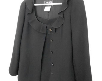 Black Chanel skirt suit