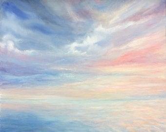 Original painting Sea painting Seascape Cloud painting Cloudscape Wall Art Landscape painting Sky painting Seascape art