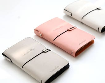 SALE!!! Pink / Grey Travel Notebook /Travel Planner/Planner Notebook WITH Inserts