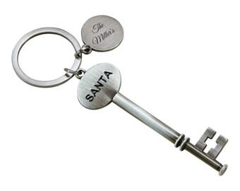 Santa's Magic Key with engraving tag