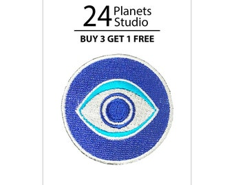 Evil Eye Iron on Patch by 24PlanetsStudio