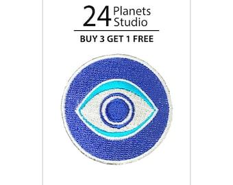 Evil Eye Iron on Patch by 24PlanetsStudio