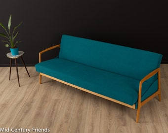 60s sofa, couch, 50s, vintage, petrol (702005)