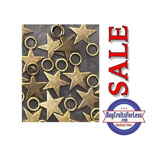 "SALE Mini STAR charms, 1/2"", 25 pcs  **FREE Shipping for orders of 10dollars+**"