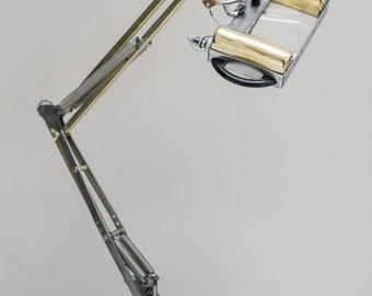 Sorry this lamp is now SOLD ****Super Rare 1431 Herbert Terry Magnifying Anglepoise Lamp.Circa 1940