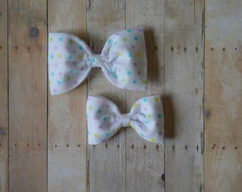 Easter Bow, Spring, Spring Bow, Polkadot Bow