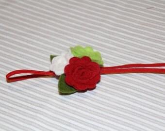 Flower headband, Holiday headband, felt flower headband