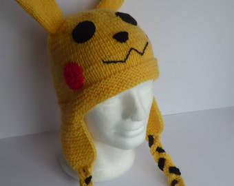 Pikachu Crochet Hat, Pokemon Go, Pokemon Hat, Novelty hat