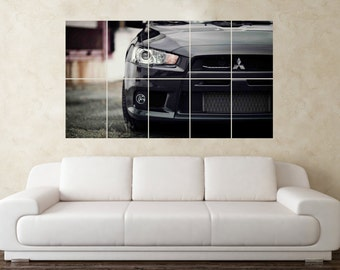 Large Mitsubishi Lancer Evolution Evo Rally Car Wall Poster Art Picture Print