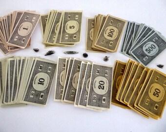 Vintage Monopoly Money, Paper Money