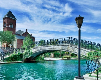 A Touch of Venice in Indy-Digital Download- A beautiful bridge over the River Walk in Indianapolis,Indiana-Print it your way and save!