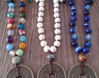 Bad, bad japa, 27 accounts, style yoga, bad short, Tibetan, knotted by hand, jewelry, yoga, stones, namaste, bad quarter, Chinese currency