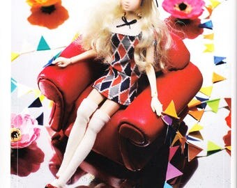 Momoko Doll E Pattern Japanese PDF Dress Socks