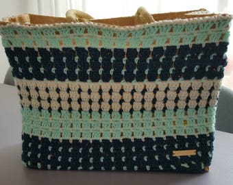 contemporary grocery shopping bag-jute bag-crochet market bag-casual shopper-crochet-bag carrying case-durable bag