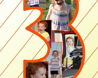 Number 3 Photo Collage