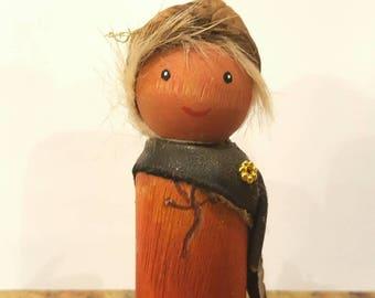 Waldorf peg doll Father Forest Elf