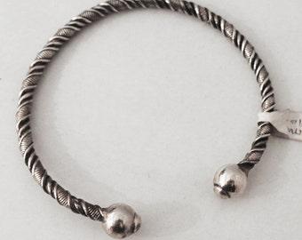 925 sterling Silver Men's Bracelet twisted rush