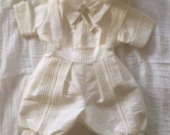 Baby boy christening baptism gown