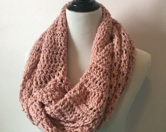Dusty Rose Infinity Scarf