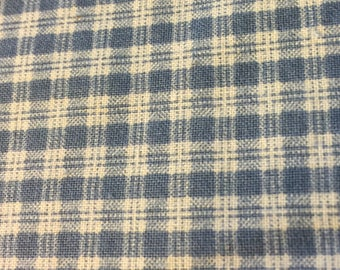 Blue and White Fabric in 100% Homespun Style Cotton