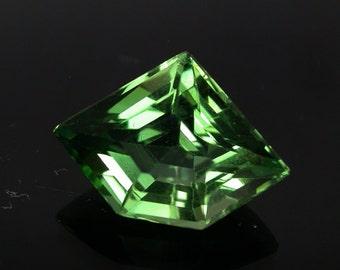 6.0 ctw. green tourmaline loose gemstone.