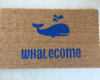 Whale Welcome Mat/Whale Doormat