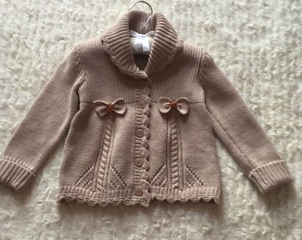 Knitted jacket for girl (size 18-24 months)