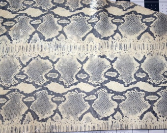 "Leather Snake Skin Hide - Embossed Snake Skin Leather - Between 2 or 3 oz - 38"" x 12""- Leather Theory"
