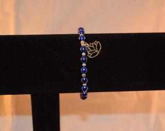 Lotus Pearl Charm Bracelet