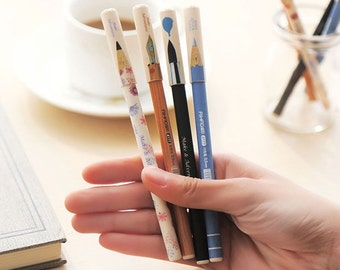 Korean Fresh Gel Ink Pen, Writing Lover, Fine Point Gel Ink, Black, Korean Stationery,Gel Pens