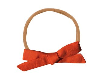Schoolgirl Bow or Pigtail Set /// Clementine