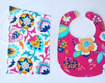 Bib & Burp Cloth Gift Set