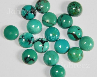 10 Pieces Natural Turquoise Cabochon Round Shape Loose gemstone Smooth polished High Quality Gemstone