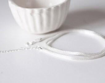 Chain stitch fine silver 40cm