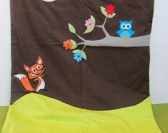 Fox and OWL dog blanket