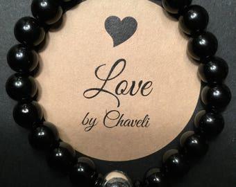 925 Pandora style Radiant droplet clear cz heart charm bead bracelet