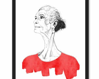 Daphne Selfe - Ink and Watercolour Fashion Illustration