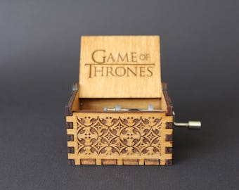 Engraved Wooden Music Box - Game of Thrones