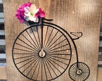 Penny farthing/ bike sign