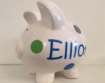 Personalized Piggy Bank - large (7 x 10 inches)