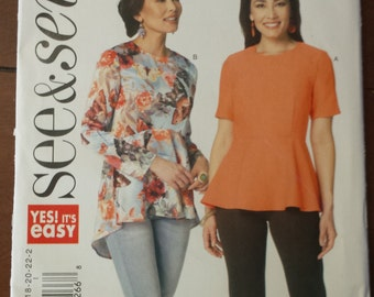See & Sew Pattern 6232, Fitted top with raised waist