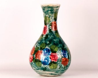 Vintage Vase - Vintage Noe Suro Vase - Vase - Vintage Flower Pattern Vase - Flower Pattern Vase -