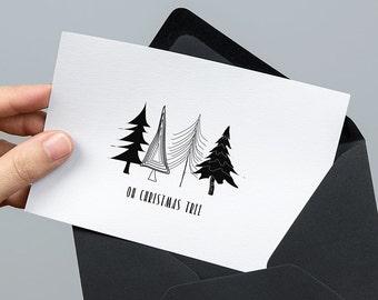 Oh Christmas Tree - Modern Minimal Print download